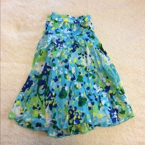 Old Navy large floral gauzy skirt